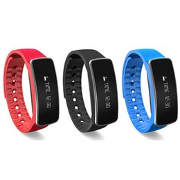 Red Certification UK - H18 Smart Bracelet Wrist Watch Band 50mah battery 0.86inch OLED Ce Rohs certification for iphone and samsung S7