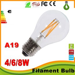 A19 bulb vintAge online shopping - led lights Dimmable W W W E27 Warm White Cool White A60 A19 Vintage LED Filament Bulb V AC Dimmable Edison Globe Bulb