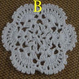 $enCountryForm.capitalKeyWord Canada - 30pcs 8-13cm Crocheted Doilies Placemats for Wedding White Crochet applique decor Tablecloth mats Vintage Coaster Pads Disc Cup Mat aa3h19