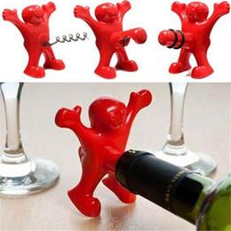 50PCS / LOT heureux homme ouvert ouvreur de bouteille Une parodie sur le bouchon de vin rouge / ouvreur de bouteille de bière Bouteille Favors 4041.