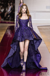 Purple High Low Dresses for Prom