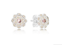 pandora new earrings Canada - 2016 NEW 100% Authentic 925 sterling silver earrings Blooming Dahlia Stud Earrings fits for pandora charms jewelry DIY 1pair  lot wholesale
