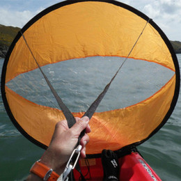 "42 ""Tavola a vento di poppa Wind Paddle Scheda di kayak Sail Wind Sail Accessori in PVC Nuovo in Offerta"