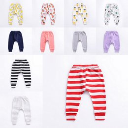 Pantalons Pp Bébé Fruits Pas Cher-Baby Boys Girls PP Pantalons Fruits Citron Ananas Strawberry Toddler Summer Leggings Loose Solid Harem Pants