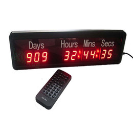Remote Countdown Clock Canada - Free shipping big size 999day,hours,minutes and seconds led countdown up LED Timer Digit clock wall clock IR remote control high bright