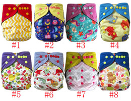 diapers sizes NZ - AIO reusable washable Nappies bamboo charcoal double gusset cloth diaper One Size Fit All China Factory
