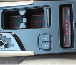 $enCountryForm.capitalKeyWord Canada - High Quality Gate Slot Pad Rubber Car-cup Mat Non-slip Mat Car Accessories For Hyundai Sonata 2013 Car Styling