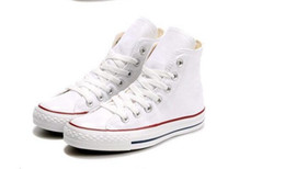Ingrosso Drop Shipping Brand New 15 colori Tutte le dimensioni 35-46 High Top stelle sportive Low Top Classic Scarpe da ginnastica Sneakers da uomo Scarpe casual da donna