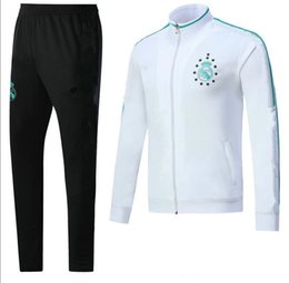 online shopping hot sale Real Madrid training suits Uniforms soccer Jacket with Pants Tracksuit set Football Survetement Hoodies