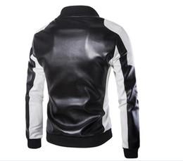Korean Motorcycle Jacket Australia - Men's foreign trade wholesale motorcycle leather men's 2018 Winter new Korean Slim men's leather jacket leather jacket coat