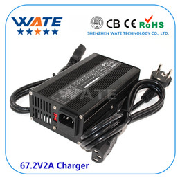 $enCountryForm.capitalKeyWord NZ - 67.2V2A Charger 16 series 60V E-Bike Li-ion Battery Smart Charger Lipo LiMn2O4 LiCoO2 battery Charger aluminum case