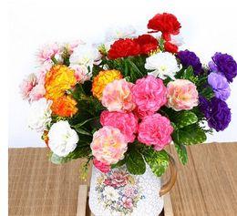 $enCountryForm.capitalKeyWord Australia - Artificial Flower 6 head Carnation Home Furnishing warm pastoral flowers plastic flowers small ornaments