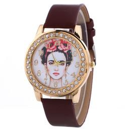 $enCountryForm.capitalKeyWord Australia - 21 Styles 5 Colors Luxury Mexico Artist Leather PU Quartz Watches for Men Women Fashion Girls Watch