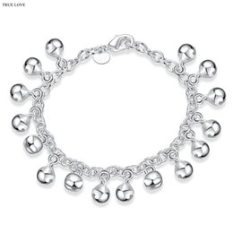 silver bracelet bells Australia - Hot 925 Silver Bell Charm Bracelet Fashion Jewelry Christmas gift for woman good quality and low price wholesale free shipping