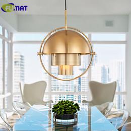 FUMAT Modern Pendant Light Dining Room Fashion Metal Lamp Bedroom Study Semi Circle Variable Shape Fixtures