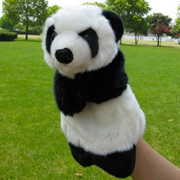 $enCountryForm.capitalKeyWord UK - Hot Sale Hand Puppets Cute Panda Dolls Fantoche Parent-child Early Educational Plush Puppet Toys Brinquedo