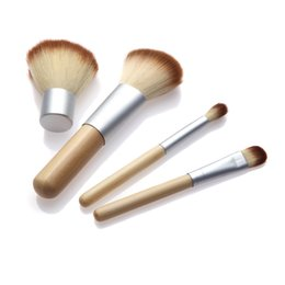 $enCountryForm.capitalKeyWord Australia - 2016 HOT!! 4PCS Natural Bamboo Handle Makeup Brushes Set Cosmetics Tools Kit Powder Blush Brushes