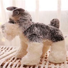 $enCountryForm.capitalKeyWord Canada - Cute Simulation Plush Toy Lifelike Animal Schnauzer Dog Girls Valentines Gift For Home Decoration Gift Soft Lovely Toy