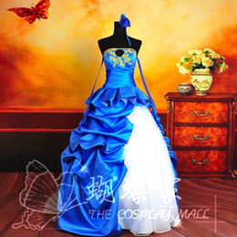 Freeship blue ruffled golden embroidery cosplay ball gown medieval dress  princess Renaissance Gown queen Victoria ball gown Belle 48628ff2e4f7