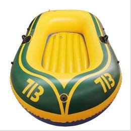 Air gonflable 192x114cm mini bateau simple inclus 2 pagaies et 1 pompe et kits de réparation nagent des bateaux de pêche radeau jouets pour enfants en Solde