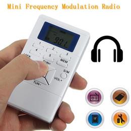 $enCountryForm.capitalKeyWord Canada - Wholesale- Portable mini Radio Slim Pocket Personal Handheld Digital Display Battery Powered FM Radio Receiver free with Earphone