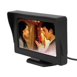 TfT lcd camera online shopping - 4 quot TFT LCD Rearview camera Car Monitors for DVD GPS Reverse Backup Camera Vehicle driving accessories