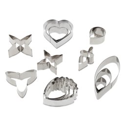 Cookies Cutters Heart UK - Pretty 16pcs Stainless Steel Cake Fondant Cookie Biscuit Candy Mould Mold Cutters Heart DIY Decorating Tools Baking Kit
