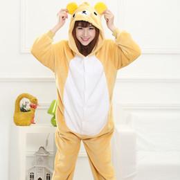 Japanese kigurumi onesie online shopping - Lovely Cheap Easily Bear Kigurumi Pajamas Anime Pyjamas Cosplay Costume Adult Unisex Onesie Dress Sleepwear Halloween S M L XL
