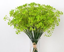 China 120pcs lotGypsophila silk baby breath Artificial Fake Silk Flowers Plant Home Wedding Party Home Decoration suppliers