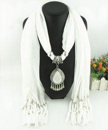 $enCountryForm.capitalKeyWord Canada - Newest Cheap Fashion Lady Scarf Direct Factory Rhinestones Drop Dangle Pendant Scarf Necklace Winter Scarf Women Neckerchief