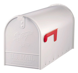 Wholesale mailboxes resale online - Large Premium Steel Rural Mailbox White E1600W00 New