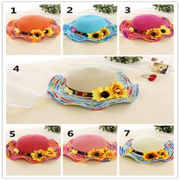 Cheap Braids Canada - Fashion Children's Cap Summer Casual Cool Baby Kids Girl Straw Braid Sun Hat Star Cap Cheap And Beautiful Baby Hat A20160010