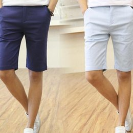 $enCountryForm.capitalKeyWord NZ - Wholesale-2016 New Fashion Casual Mens Shorts Cotton Beach Mens Leisure Fashion Short Trousers Work Casual Bermuda Masculina Shorts