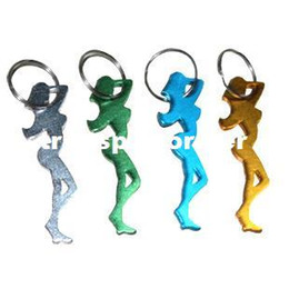 China 1600Pcs Aluminum Alloy Bar Beer Bottle Opener Sexy Lady Key Chains Metal Novelty Promotion Keyring Gift-Free Shipping cheap novelty metal bottle openers suppliers