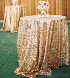 Cream Purple Dresses Canada - Free Shipping Cheap Rose Gold Bling Bling Sequins Wedding Decorations Table Cloth Glitter Evening Bridesmaid Prom Party Dress Fabric