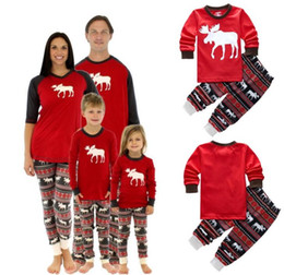 Christmas Pajamas For Family Matching Outfits Set Deer Adult Women Kids  Baby Reindeer Sleepwear Nightwear Clothing Xmas f6ac133d0