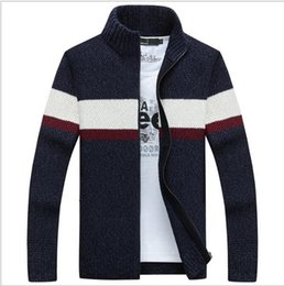 Men S Wool Jackets Canada - autumn and winter new wool coat Men 's casual cashmere cardigan jacket Fashion collar collar men thick sweater men women polo jacket