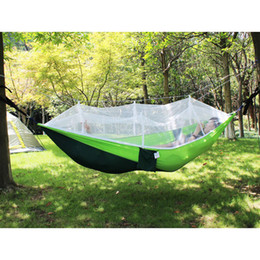 2 person hammock hot selling 220150cm 1 or 2 person portable hammock folded