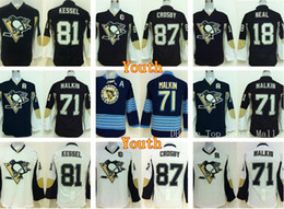 ... NHL Jersey Youth Pittsburgh Penguins Jerseys Children 18 James Neal 71  Evgeni Malkin 87 Sidney Crosby 81 Phil ... d88b15e6a