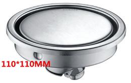 Desodorisante anti del bloqueo del drenaje de piso de la gravedad invisible del acero inoxidable 304 de los productos sanitarios