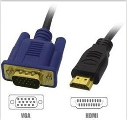 $enCountryForm.capitalKeyWord NZ - Wholesale low price and high quality 1.5M HDMI Male to SVGA VGA M Converter A V Cable Lead 100pcs lot free shipping