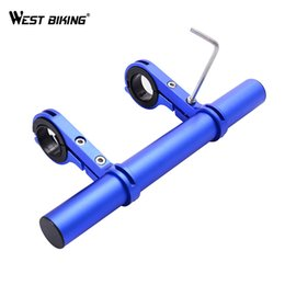 Extension Bike Canada - Cycling Double Bicycle Handlebar Expander Mount Lamp Bracket Road MTB Bikes Light Extension Holder + Allen Key Tools