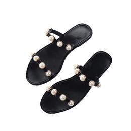 $enCountryForm.capitalKeyWord UK - Women Summer Beach Slippers Women PVC Slippers Pearl Flat Flip Flops Sexy Platform Sandals Women's Non-slip Shoes
