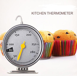 Oven Thermometer Steel NZ - Stainless Steel Oven Thermometers Kitchen Cooking Meat Tool Free Shipping
