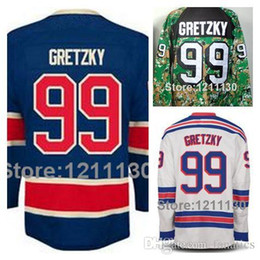 2016 Men s Ice Hockey Jersey NY Rangers Wayne Gretzky Jerseys  99 Blue White  Camouflage Camo Stanley Cup Champions c66e827c4