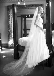$enCountryForm.capitalKeyWord NZ - Hot Amazing Qualityr Best Sale Romantic Chapel White Line Edge Veil Mantilla Veil Bridal Head Pieces For Wedding Dresses