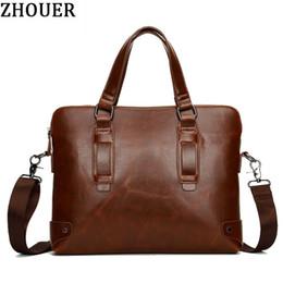 Discount famous computer brands - Wholesale- Vintage Luxury Men Briefcases 2017 New Famous Brand Shoulder Bag Messenger Bags Laptop Briefcase Male Causal