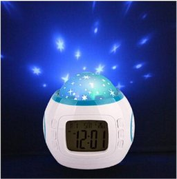 Christmas Clock Music NZ - Colorful Music Starry Star Sky Projection projector with Alarm Clock Calendar