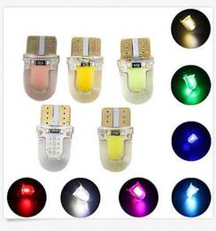 168 led blue bright For Sale - 100PCS T10 W5W COB SMD SILICA Super Bright LED light Bulbs White price