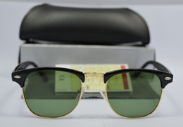 $enCountryForm.capitalKeyWord Canada - Mens Womens Designer Sunglasses Semi Rimless Sun Glasses Gold Frame Green Glass Lenses 51mm With Brown Case